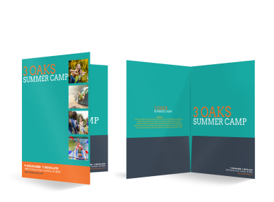 Cool Summer Camp Bi-Fold Pocket Folder Template preview