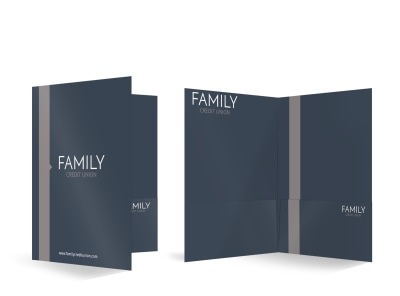 Family Credit Union Bi-Fold Pocket Folder Template preview