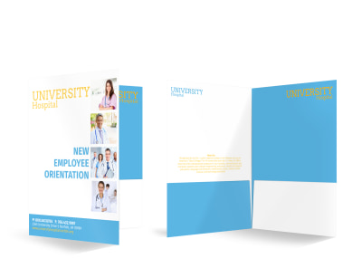 Hospital Orientation Bi-Fold Pocket Folder Template preview