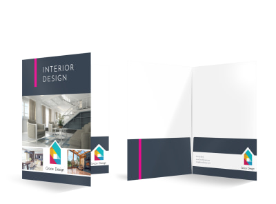 Simple Interior Design Bi-Fold Pocket Folder Template preview