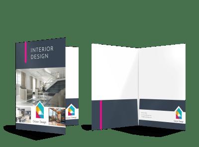 Interior Design Pocket Folder Templates Template Preview