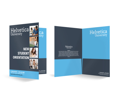 Student Orientation Bi-Fold Pocket Folder Template preview
