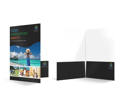 Travel Agency Bi-Fold Pocket Folder Template preview