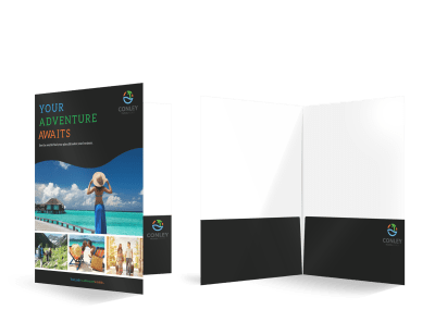 Travel Agent Pocket Folders Template Preview