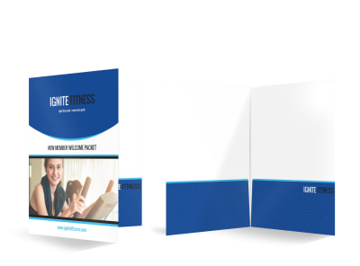 New Member Fitness Bi-Fold Pocket Folder Template preview
