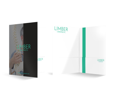 Limber Chiropractic Bi-Fold Pocket Folder Template preview