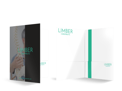 Chiropractic Pocket Folders Template Preview