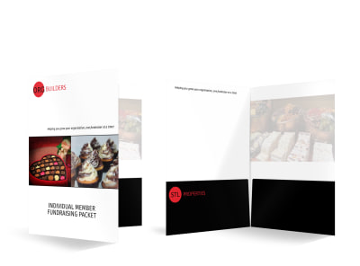 Member Fundraising Bi-Fold Pocket Folder Template preview