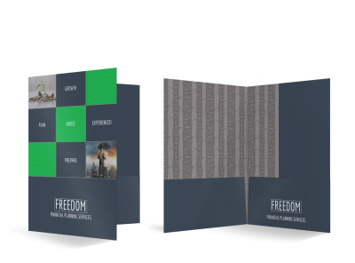 Financial Planning Bi-Fold Pocket Folder Template preview