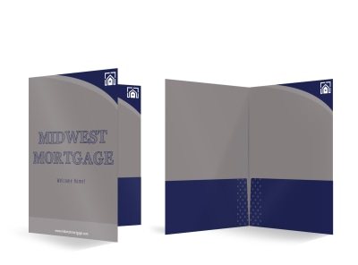 Midwest Mortgage Bi-Fold Pocket Folder Template preview