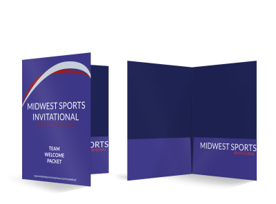 Sports Invitational Bi-Fold Pocket Folder Template preview