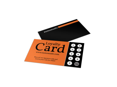 Sushi Loyalty Card Template preview