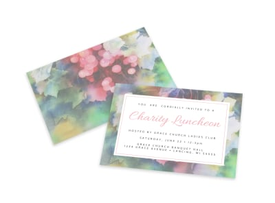 Floral Charity Invitation Card Template preview