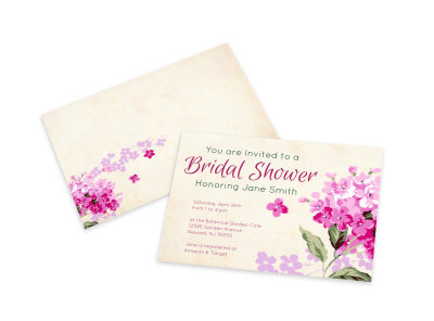 Bridal Shower Invitation Card Template preview