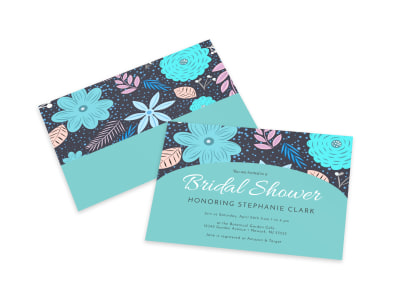 Invitation Bridal Shower Card Template preview