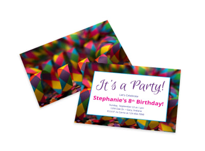 Party Invitation Card Template preview