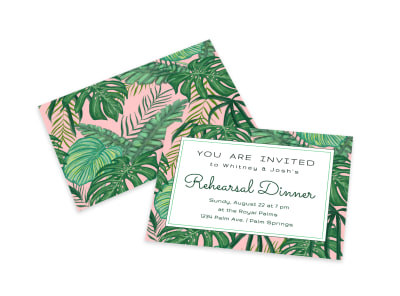 Rehearsal Dinner Invitation Card Template preview