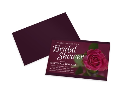 Bridal Shower Invite Card Template preview