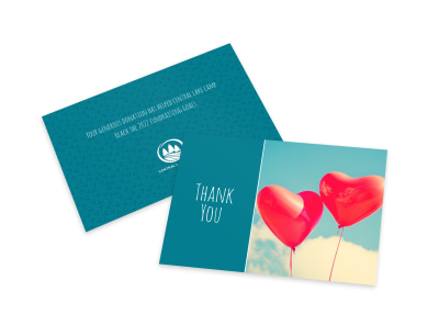 Balloon Thank You Card Template preview