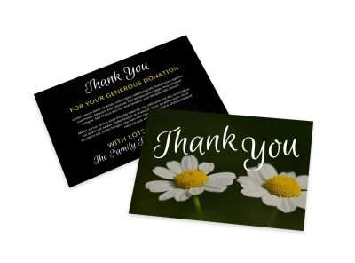 Thank You Flower Card Template preview