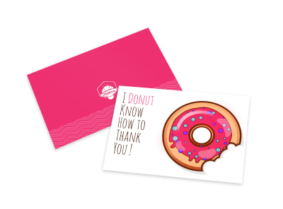 Thank You Donut Card Template preview