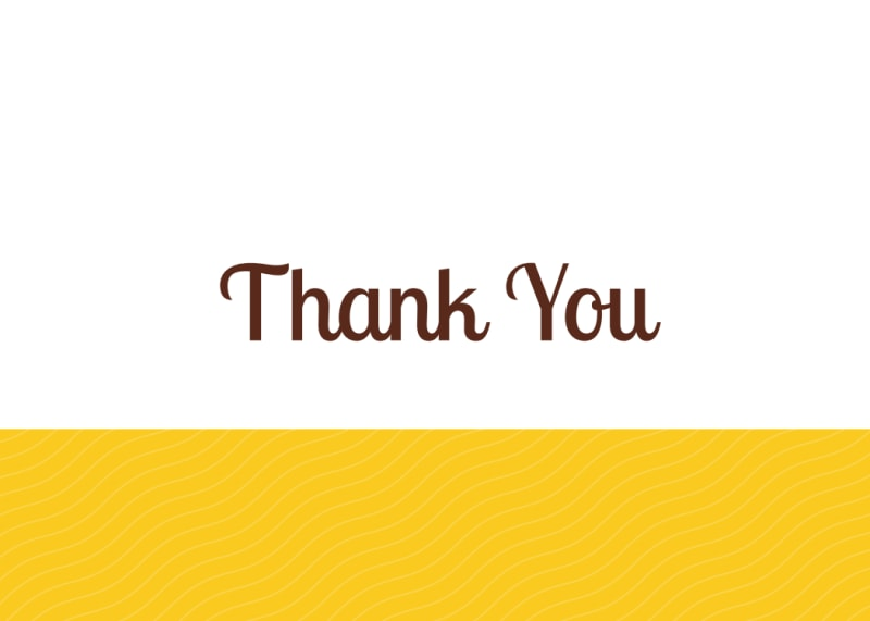 Yellow Thank You Card Template Preview 3