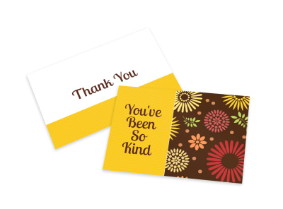 Yellow Thank You Card Template preview
