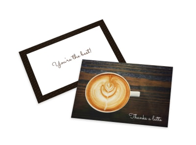 Coffee Thank You Card Template preview