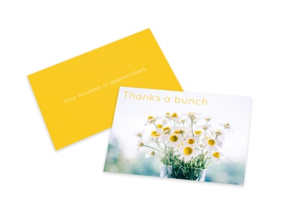 Spring Thank You Card Template preview