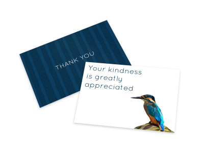 Kind Thank You Card Template preview