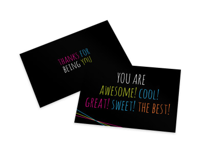 Awesome Thank You Card Template preview