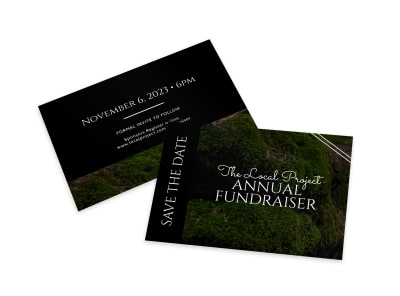 Save The Date Fundraiser Card Template preview