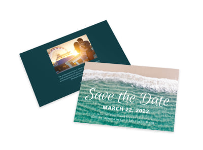 Save The Date Ocean Card Template preview