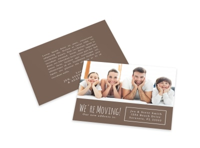 We're Moving Card Template bmwexos83z preview