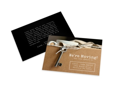 We're Moving Card Template preview