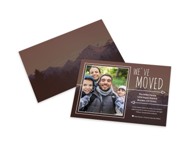 We Moved Card Template preview