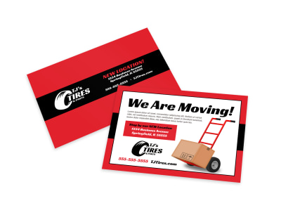 We Are Moving Card Template preview