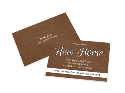Change Of Address Card Templates