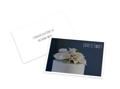 Wedding Love Card Template preview