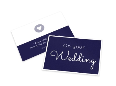 On Your Wedding Card Template preview