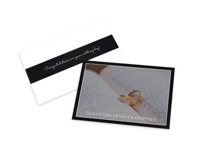 Lifetime Of Love Wedding Card Template preview