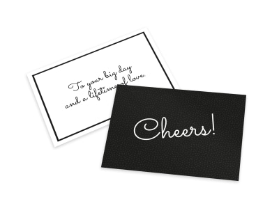 Cheers Wedding Card Template preview