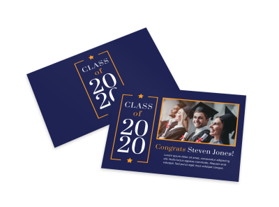 Class Graduation Card Template preview