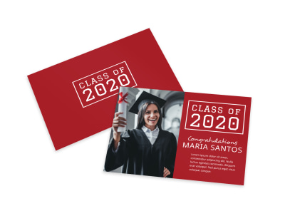 Simple Graduation Card Template preview