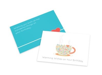 Warm Birthday Wishes Card Template preview