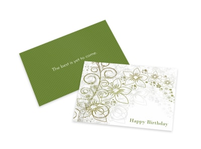 Green Birthday Card Template preview