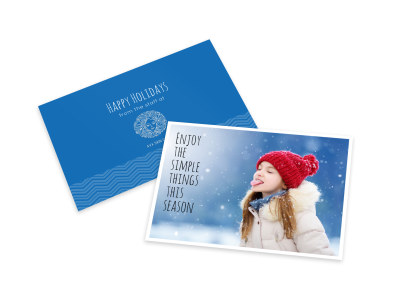Simple Christmas Card Template preview