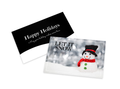 Let It Snow Card Template preview