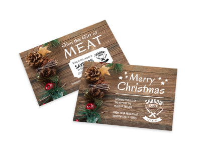 Merry Christmas Special Offer Card Template preview