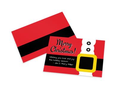 Santa Belt Card Template preview